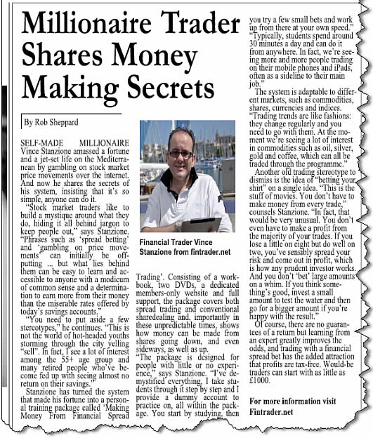Millionaire Trader Shares Money Making Secrets
